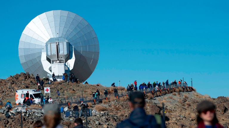 Tourists and astronomers arrive at La Silla European Southern Observatory (ESO), ahead of a solar eclipse in La Higuera, Coquimbo Region, Chile, on July 02, 2019