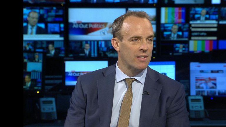 Dominic Raab: 'EU is being stubborn'