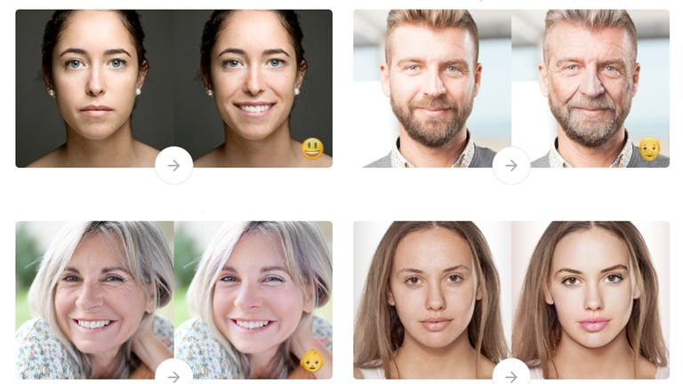 FaceApp's promotional image shows what the app can do