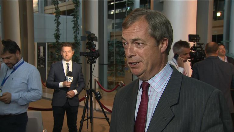Despite voting against the nomination of Ursula von der Leyen, Nigel Farage says the German politician will be good for Brexit