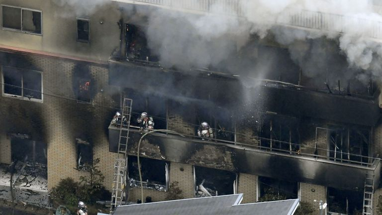 One dead and several injured after a suspected arson attack in Kyoto, Japan