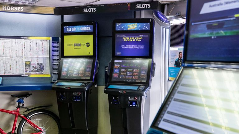 Betting machines in a bookies on November 13, 2018 in London