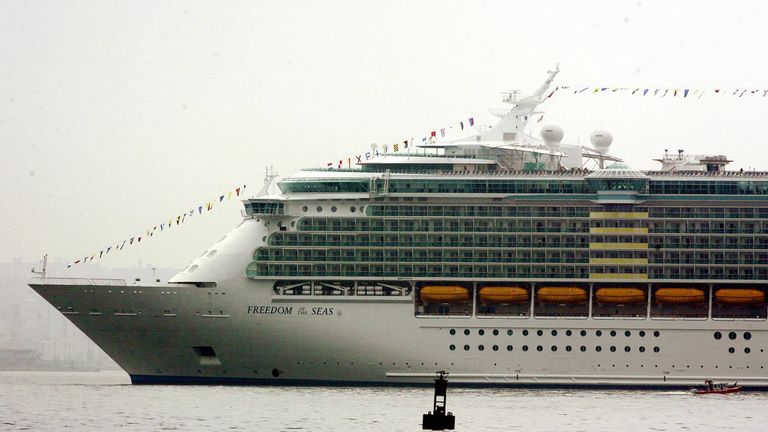 The cruise ship Freedom of the Seas