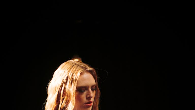 Freya Ridings recording new video at YouTube. Pic: Sam Kay
