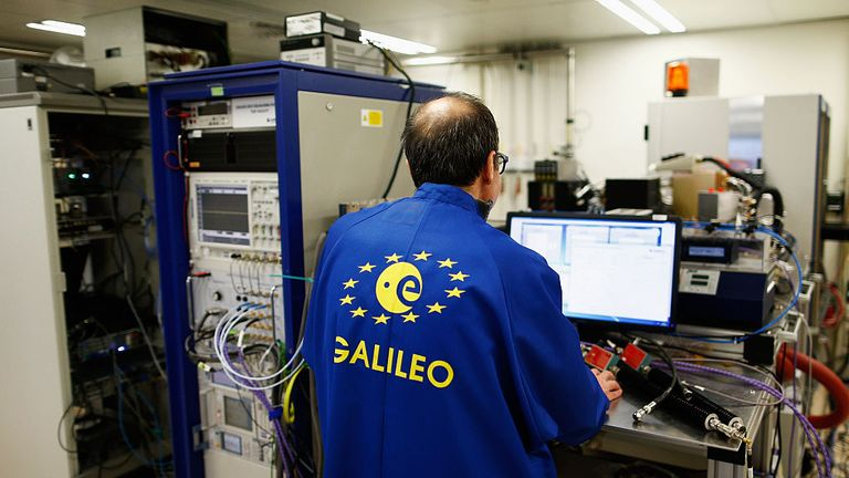 NOORDWIJK, NETHERLANDS - APRIL 14: Armen Derderian, Head of Laboratory Unit works in the GNSS Payload test facility with the In-Orbit Validation or IOV, the working model of the orbiting Galileo satellite for testing on the ground in the Radio Frequency Systems, Payload and Technology Laboratories at the European Space Agency on April 14, 2016 in Noordwijk, Netherlands. (Photo by Dean Mouhtaropoulos/Getty Images) Satellites of all kinds have one central characteristic in common. They all have to