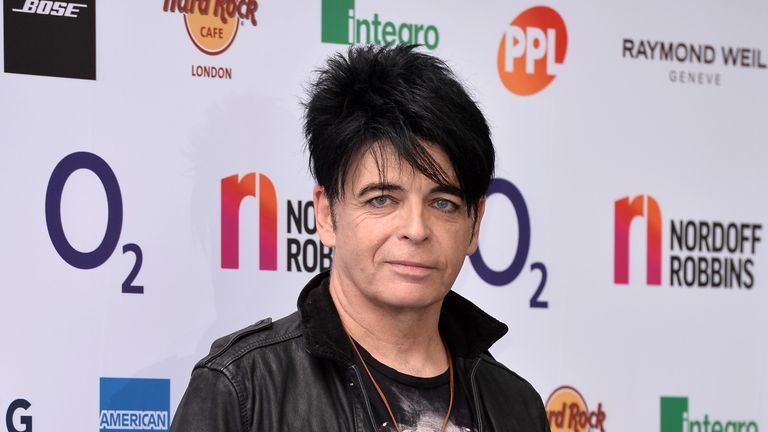 Gary Numan at the Silver Clef Awards