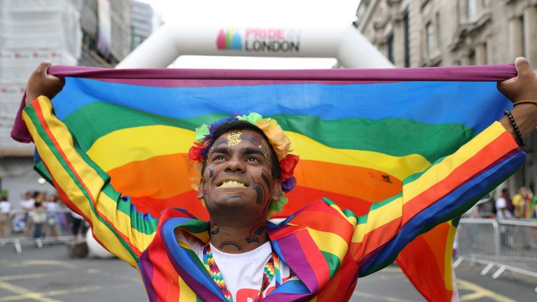 London's gay Pride parade