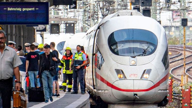 The 8-year-old boy was pushed in front of a high-speed train
