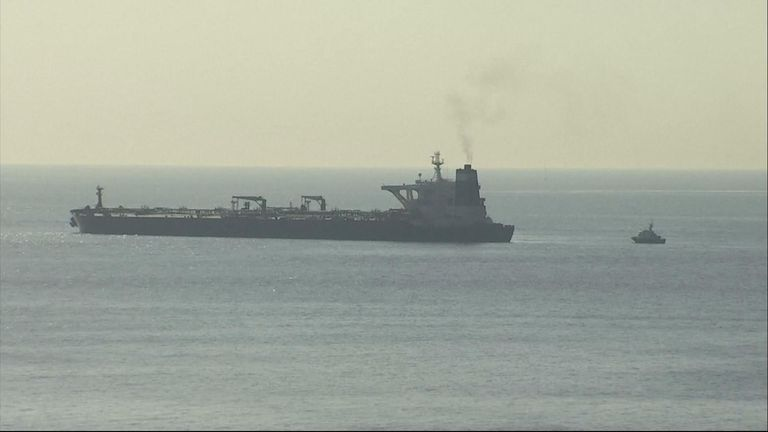 Authorities said there was reason to believe the ship, called the Grace 1, was carrying crude oil to the Baniyas Refinery in Syria.
