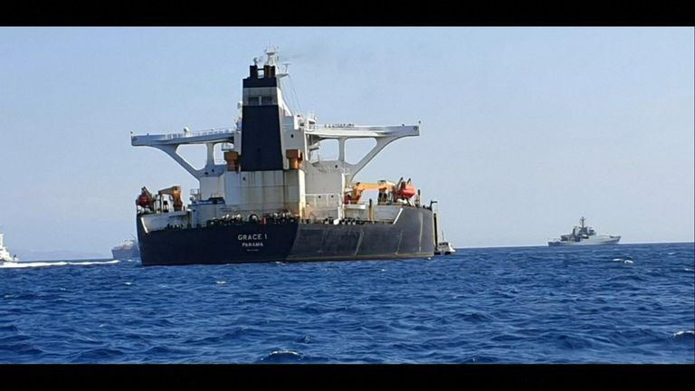 Oil supertanker Grace 1 bound for Syria detained in Gibraltar
