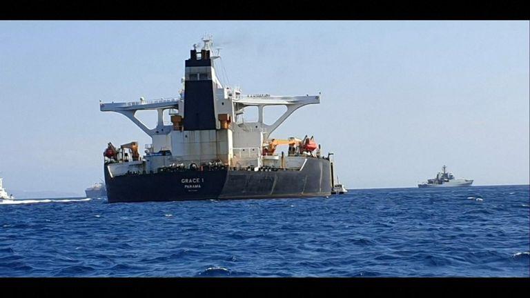 Oil supertanker Grace 1 bound for Syria detained in Gibraltar
