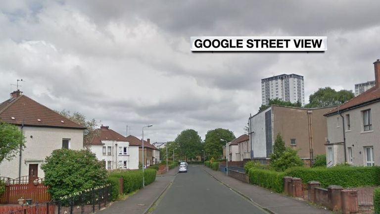 The collision occurred on Millbrix Avenue in Glasgow. Pic: Google Street View