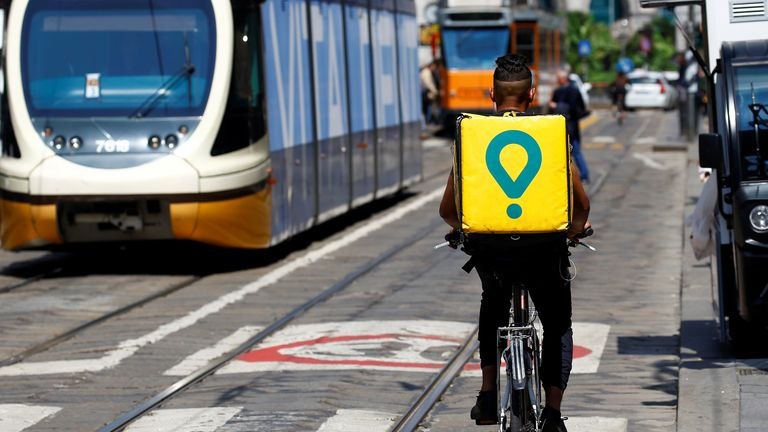 Glovo, which is based in Barcelona, differs from food delivery rivals