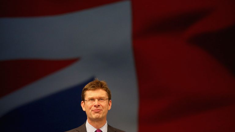 Greg Clark, addresses delegates on the second day of the annual Conservative party conference on October 5, 2015 in Manchester, England. The second day of the 2015 autumn conference is being dominated by the economy and the appointment of Labour peer Lord Adonis as head of the National Infrastructure Division (NIC) which will will advise the Government on road, rail, housing and energy projects. (P