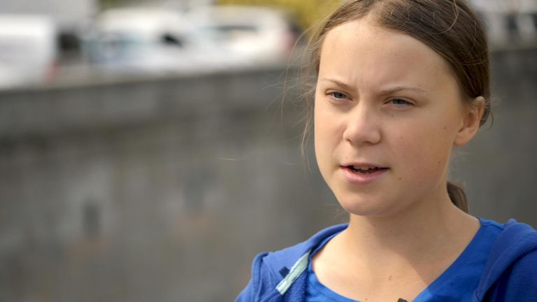 UK carbon emissions target 'doing more harm than good', teen climate activist Greta Thunberg tells Sky News
