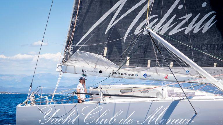 Monaco royal family member Pierre Casiraghi on board the Malizia