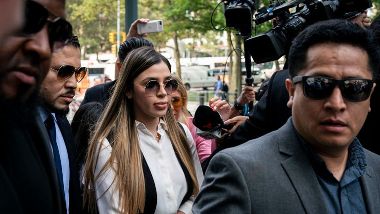 El Chapo's wife, Emma Coronel Aispuro, was at court for the sentencing