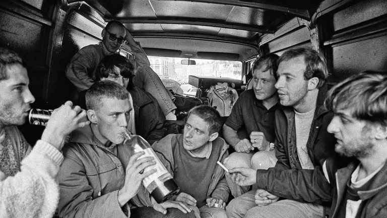 Happy Mondays in the back of a van in 1987