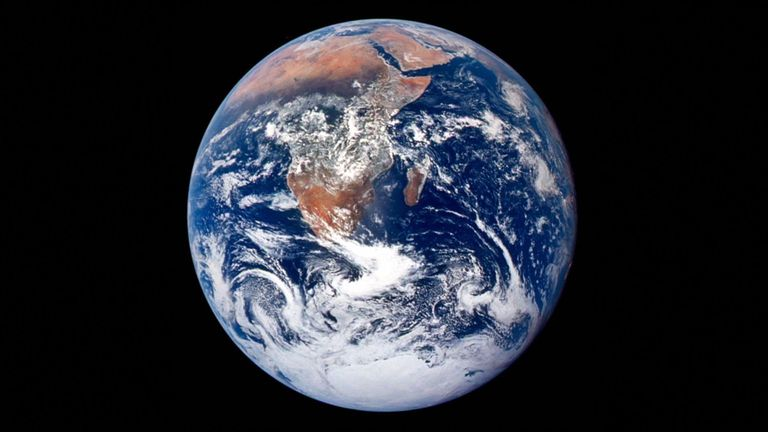 Harrison Schmitt captured this image of Earth
