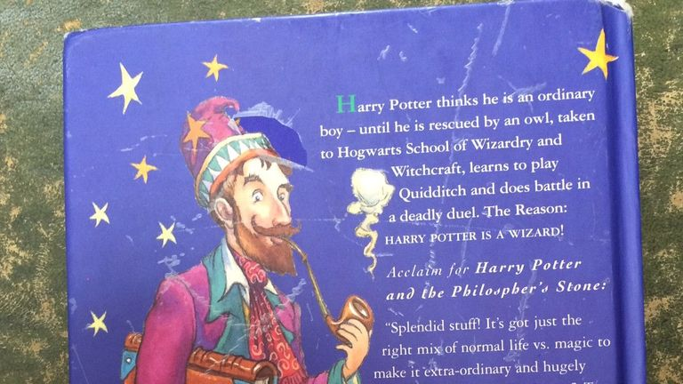 The back of the book features of misspelling of 'philosopher's'