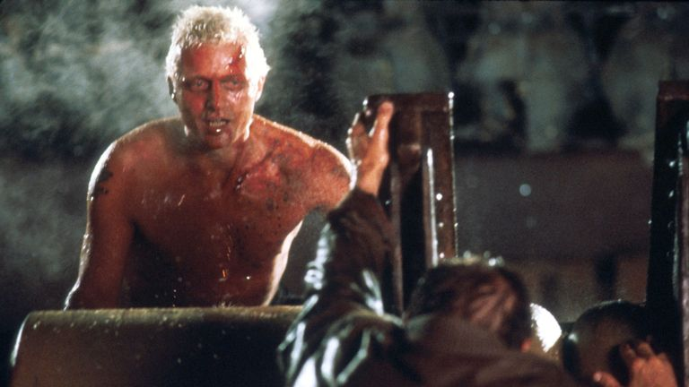 Hauer as Roy Batty in Blade Runner. Pic: Rex