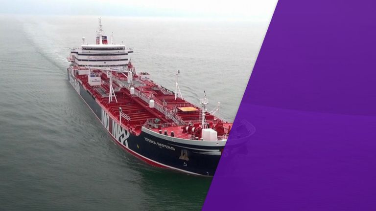 The Iranian Revolutionary Guard told state TV it seized the Stena Impero. File pic: Stena Bulk