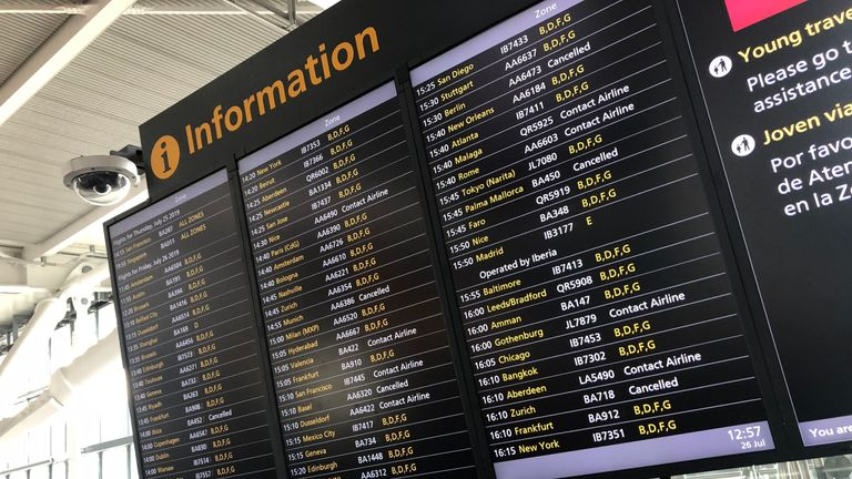 Lots of passengers at Heathrow being told to contact their airline
