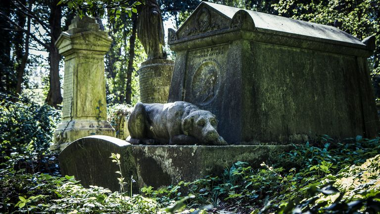 Highgate cemetery, opened in 1839, has just a few plots left