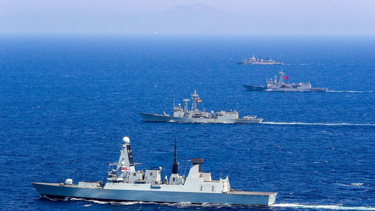 HMS Duncan, pictured in the Aegean sea, has been sent to the Gulf. Pic: Paul Hall/Royal Navy/Shutterstock