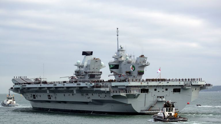 HMS Queen Elizabeth is the biggest and most powerful warship in British history