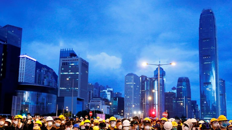 Hong Kong protesters clash with police on handover anniversary