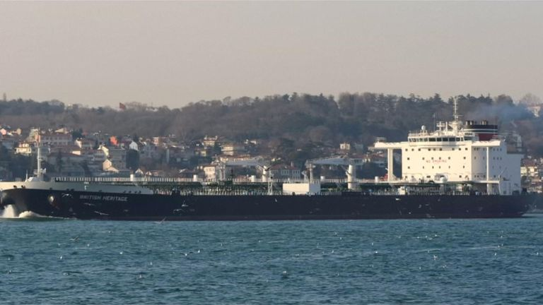 British Heritage is one of the tankers helped through the Strait of Hormuz