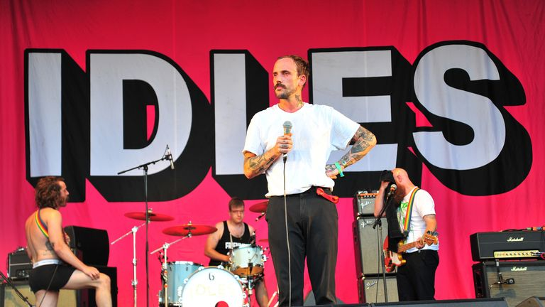 Idles perform on the Park Stage at Glastonbury