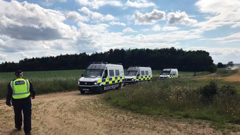 A police operation in Norfolk, as they have arrested five people and seized sound equipment after a social media tip-off about an illegal dance part