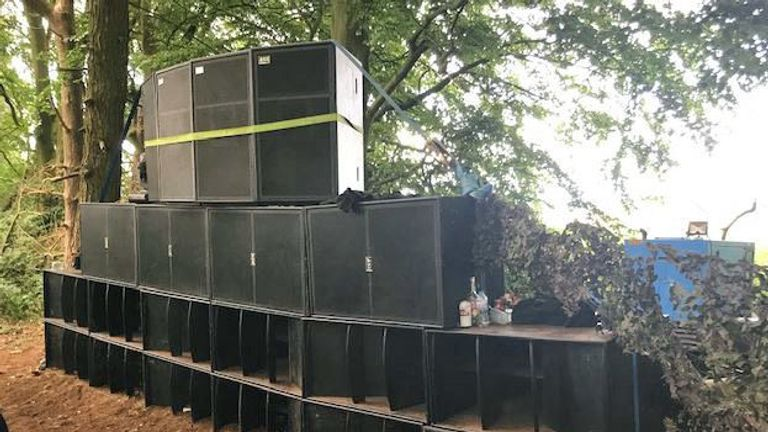 A police operation in Norfolk, as they have arrested five people and seized sound equipment after a social media tip-off about an illegal dance party