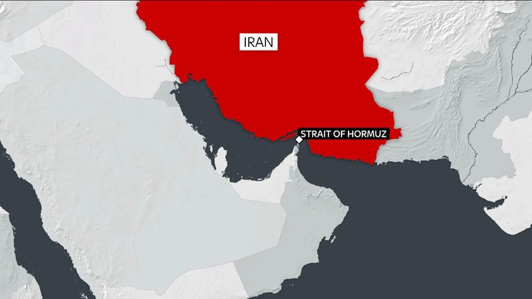 Three Iranian boats tried to stop a British oil tanker in the Strait of Hormuz