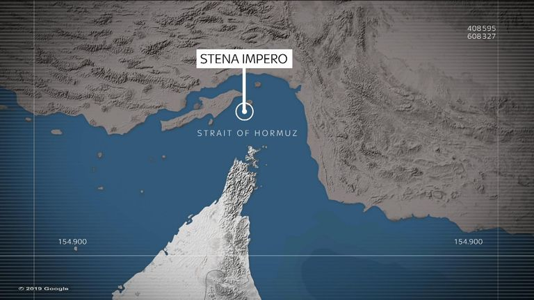 The Stena Impero has been seized in the Strait of Hormuz