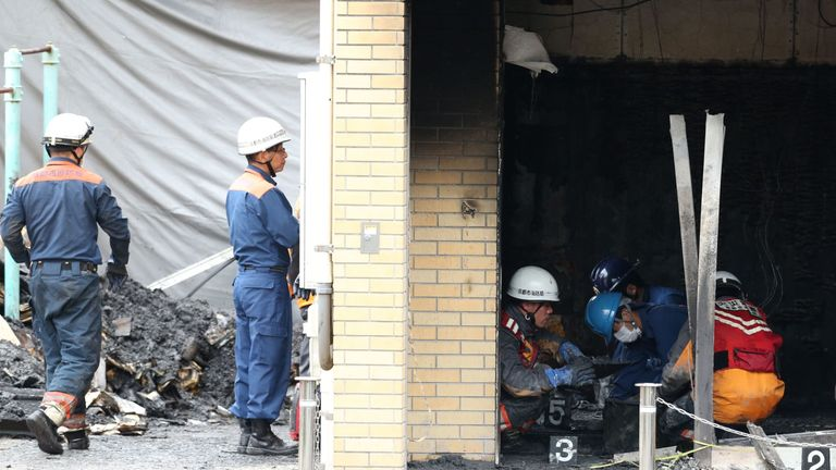 Deadly Japan fire: Arson suspect said animation studio 'stole his novel'
