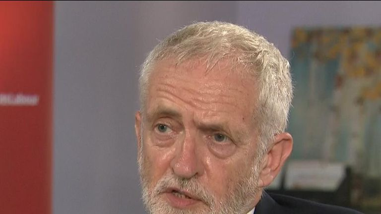 Jeremy Corbyn faces questions about alleged antisemitism in the Labour Party