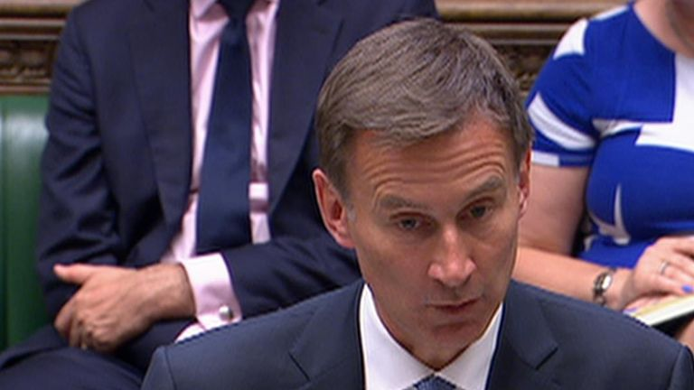 Jeremy Hunt gives statement to House of Commons on Iran tanker incident