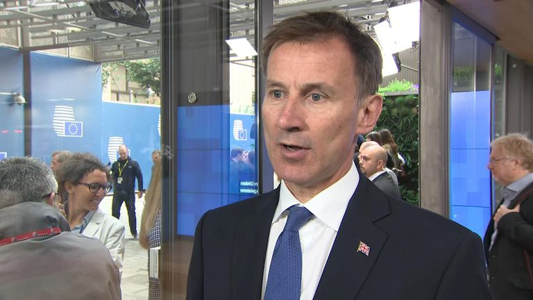 Jeremy Hunt tells Sky News that the UK and US disagree over the nuclear deal in Iran