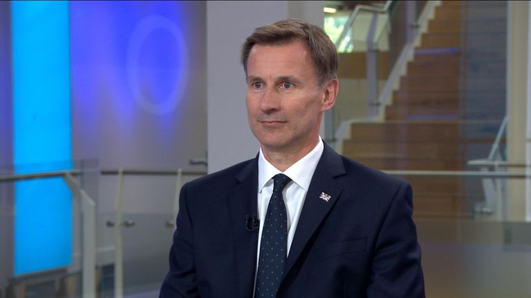 Jeremy Hunt is hoping to become the UK's next prime minister