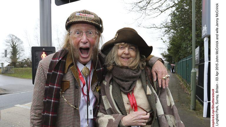 John McCririck and wife Jenny McCririck