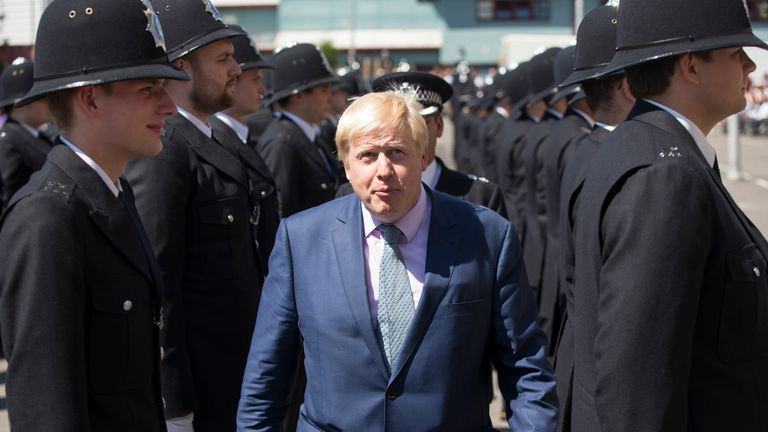 Mr Johnson says the public want more police on the streets