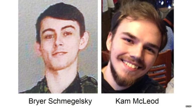 Kam McLeod and Bryer Schmegelsky's burnt-out camper van was found around 300 miles from where Fowler and Deese were discovered