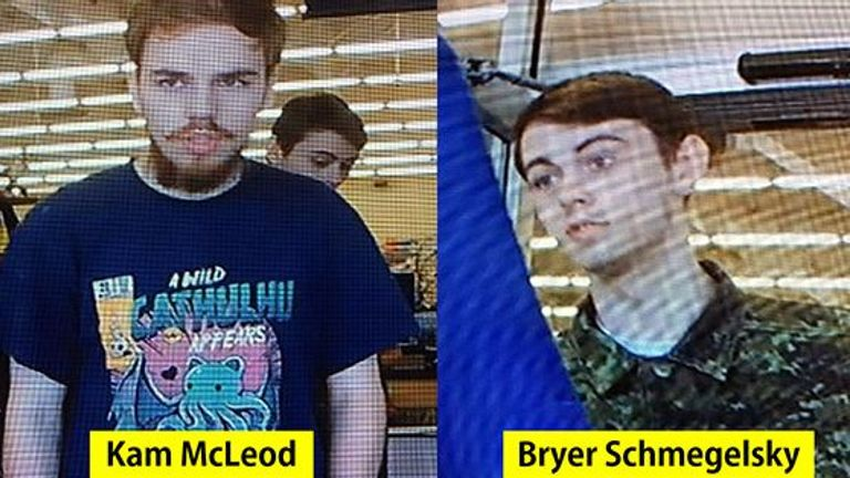Kam McLeod and Bryer Schmegelsky are now suspects in a triple murder. Pic: RCMP