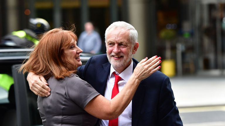 Jeremy Corbyn with his chief of staff Karie Murphy