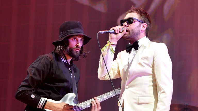 Kasabian headline Glastonbury Festival at Worthy Farm on June 29, 2014