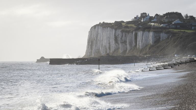 Patrols have been stepped up on the Kent coast since a major incident was declared by the home secretary. File pic