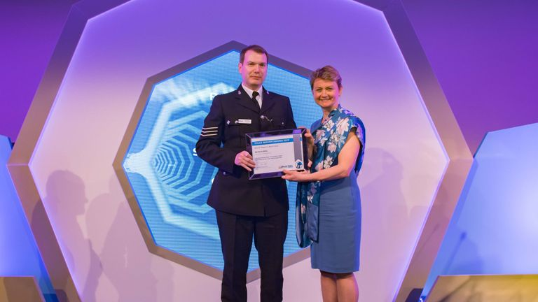 Sgt Kevin Milby single-handedly chased and caught an axe-wielding suspect. Pic: Police Federation